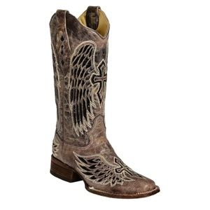 Corral Vintage Sequin Wings Cross Western Boots